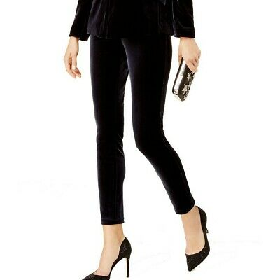 INC NEW Women's Faux Front Pockets Curvy Fit Velvet Pull On Skinny Pants TEDO