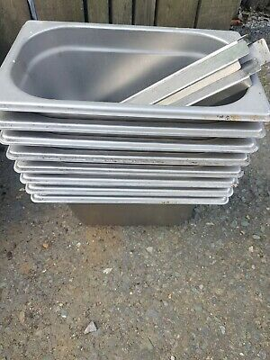 Stainless Steel 1/4 Size Gastronorm Pan Bain Marie Pot