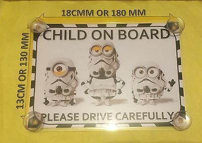 Child On Board Minions Stormtroopers   Laminated Car Sign