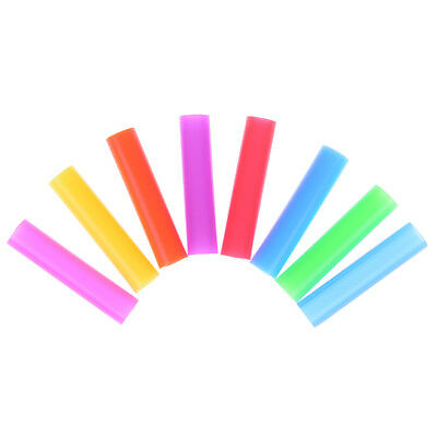 8pcs/set Silicone Tips Cover Food Grade Cover for 6mm Stainless Steel StrawWCP