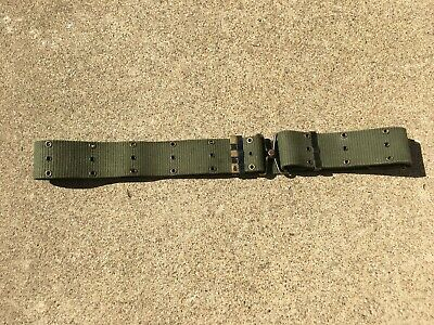 Original Vietnam Era US Army/Marine Corps Green Web Pistol Belt