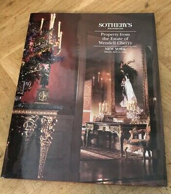 Sotheby's auction catalogue, Property From The Estate Of Wendell Cherry, 1994.