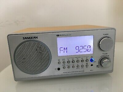 Sangean WR-2 Radio Wooden Antenna Manual Included No Remote Tested Works