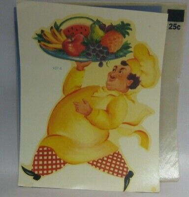 Vintage Meyercord Decal Transfer Decorations - 927-B - 1940's CHEF