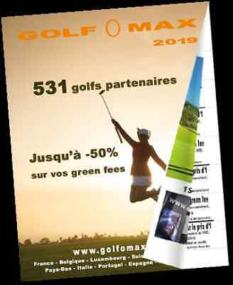 Golf O Max 2019 up to 50% off (2 for 1) Golf Vouchers in Europe