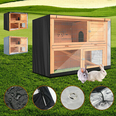4FT Waterproof Large Double Rabbit Hutch Cover Guinea Pig Deluxe Pet Covers