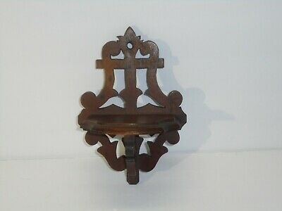 Antique Small Wood Walnut Curio Shelf Wall Decor Home Collectible Victorian