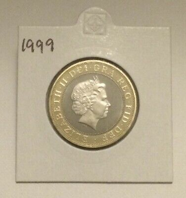 1999 - £2 Pound Proof Coin, Rugby World Cup, Rare