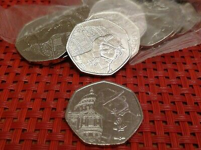 PADDINGTON at ST Paul's Cathedral 50P Coin  2019 from sealed bags Uncirculated