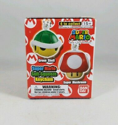 Super Mario Soft-Squeeze Keychain Series 2 Mystery Pack Lot de 3