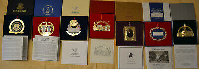 New The White House Historical Association Christmas Ornaments Lot #7 years vary