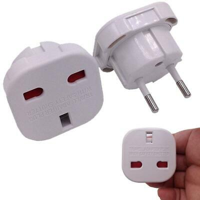 British English UK To EU Euro Europe European Travel Adaptor Plug 2 Pin YO