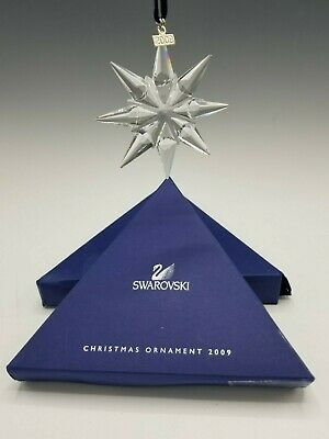 Swarovski Crystal Snowflake Annual Christmas Ornament 2009
