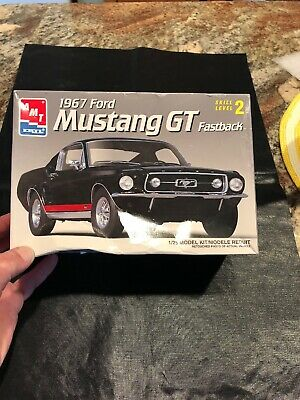 1967 Ford Mustang Gt Model Car Kit By Amt Ertl