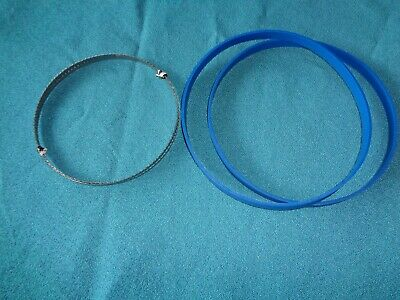 """2 Blue Max Urethane Band Saw Tires And 1/4"""" Band Saw Blade For Ryobi Bs901 Saw"""