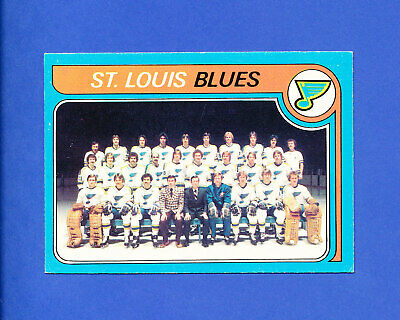 1979 OPC HOCKEY ST. LOUIS BLUES # 257 o-pee-chee TEAM CHECKLIST unmarked