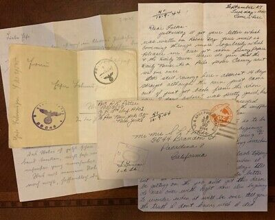 WWII letter lot, D-Day 18th Infantry, 1st Division, his Platoon leader was KIA