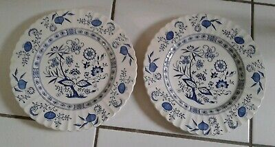 Lot Of 2 J & G Meakin Blue Nordic Dinner Plates