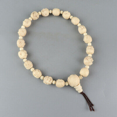 Chinese Exquisite Handmade Luohan Carving antlers Bracelet