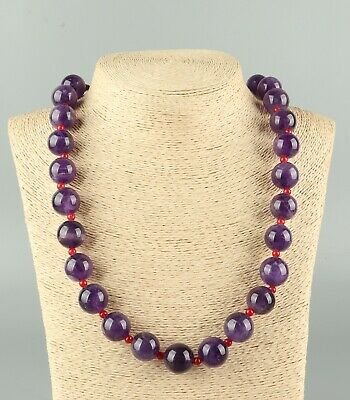 Chinese Exquisite Handmade purple crystal necklace