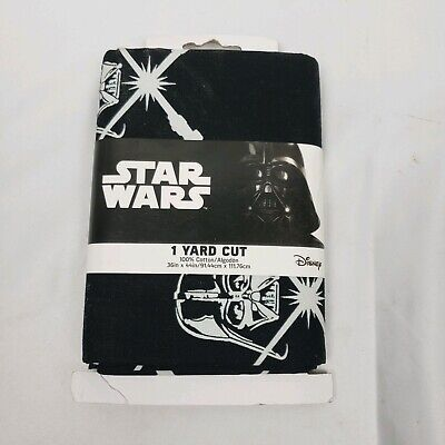 Star Wars Disney Cotton Fabric Darth Vader Glow In The Dark 1 Yard Cut Crafts
