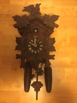 Schatz 8 Day  Forest German Cuckoo Clock For Parts & or Repair Made In Germany