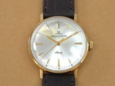 JAEGER-LECOULTRE 18K Gold 5 One Piece Case Hand Winding Vintage Watch 1960's