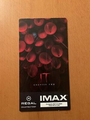 It Chapter 2 IMAX Regal Collectible Ticket