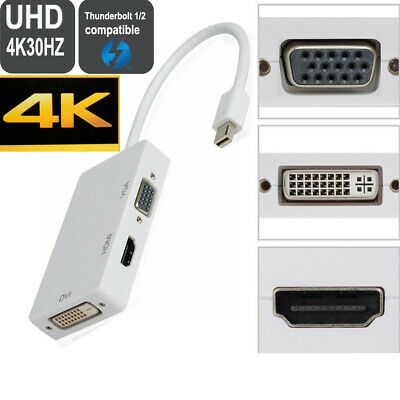 Thunderbolt/mini DP to VGA DVI HDMI cable adapter for apple macbook pro air