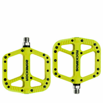 ROCKBROS Mountain Bike Bicycle Bearing Pedals Wide Nylon Cyan Pedals a Pair