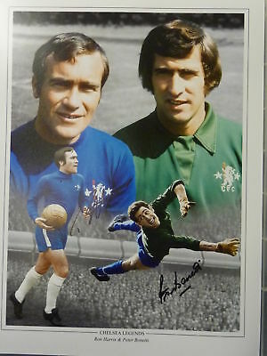 Ron Harris, Peter Bonetti Signed Chelsea Photo