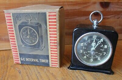 GE Interval Timer General Electric X-Ray Corp 01 Antique with vintage box