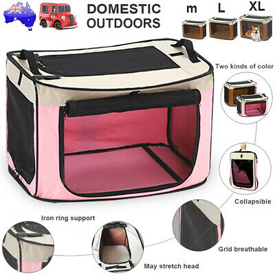 Pet Soft Crate Portable Foldable Dog Cat Carrier Travel Cage Kennel Folding Bag