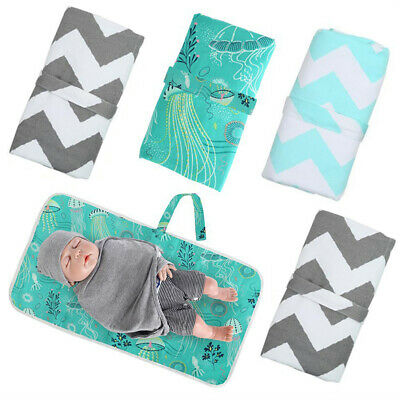 Baby Waterproof Portable Foldable Travel Diaper Changing Mat Pad Storage Nappy