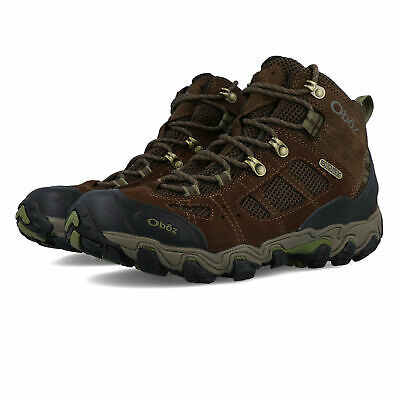 Oboz Mens Bridger Vent Mid B-DRY Walking Boots Brown Sports Outdoors Breathable