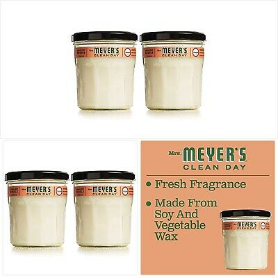Mrs. Meyer's Clean Day Scented Soy Candle, Large Glass, Geranium, 7.2 oz (2 pack
