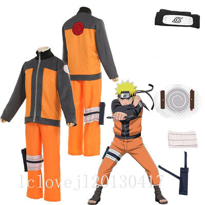 Cosplay Anime Naruto Uzumaki Shippuden Hokage Halloween Costume Uniform Full Set