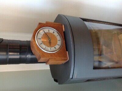Smiths vintage wooden mantle clock with new battery movement excellent.