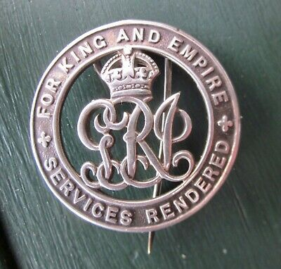 Australia Silver War Badge - Services Rendered For King & Empire - A30355 - WW1