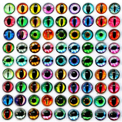 10pcs Round Glass Dolls Eyes Craft Cabochon Cameo For Jewelry DIY Craft 10~30mm