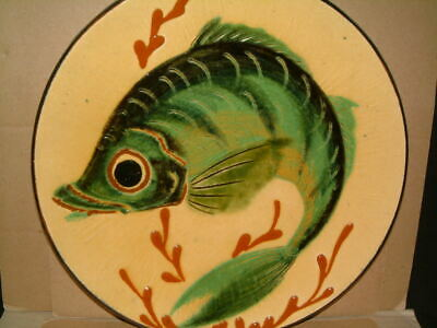 """Beautifully Crafted Vintage Puigdemont Fish Plate - 9"""" Diameter"""