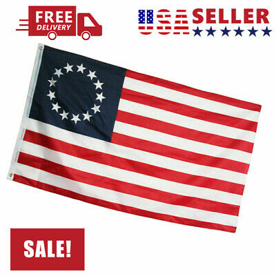 New 3' X 5' 3x5 Betsy Ross USA American 13 Star Flag Indoor Outdoor USA SELLER