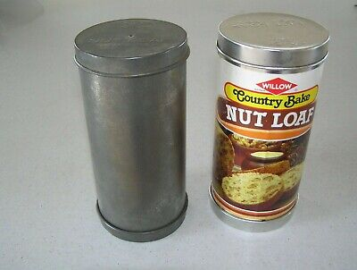 2 Vintage Willow Nut Loaf Tins – Recipe Attached