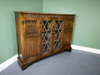 An Antique Old Charm Style Oak Bookcase Sideboard ~Delivery Available~