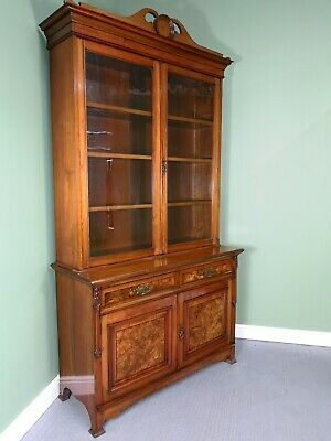 An Antique Victorian Art Nouveau Library Bookcase ~Delivery Available~