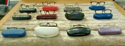 Job lot of Used Prescription/Reading Glasses with cases x 12 various strengths