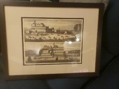 Museum Quality Phillips Images 1672 Fortof Bombay Framed Reproduction Nice Piece