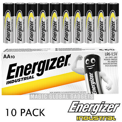 10 x Energizer LR6 Industrial AA Batteries Alkaline Long lasting 1.5 V Battery