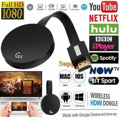 Chromecast 4rd  G4 Generation HDMI 1080P Digital Video Media Streamer For Google