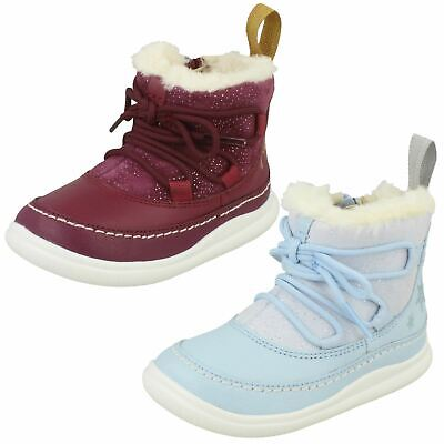 Girls Clarks DIsney Frozen Ankle Boots 'Cloud Throne'